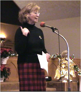 Joanne Hummel leads the 2006 Christmas program