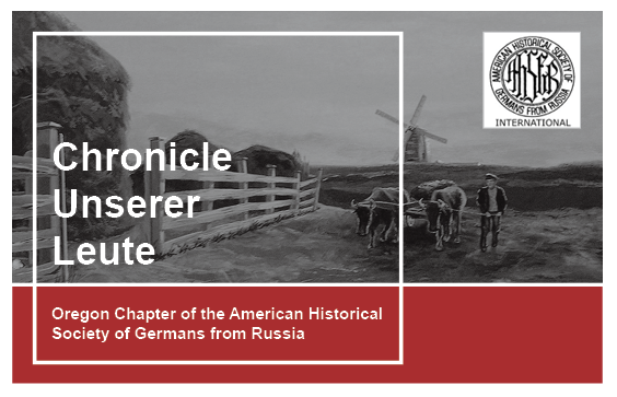 The Oregon Chapter Of The American Historical Society Of